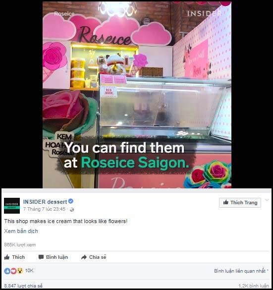"""Cửa hàng """"kem hoa"""" ở Việt Nam gây sốt - 1"""