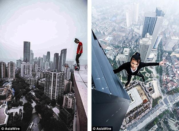 Dù trong giới làm phim, Wu chưa phải một diễn viên có tiếng, nhưng trên mạng xã hội, anh được nhiều người trẻ ở Trung Quốc biết đến với những clip chinh phục mạo hiểm.