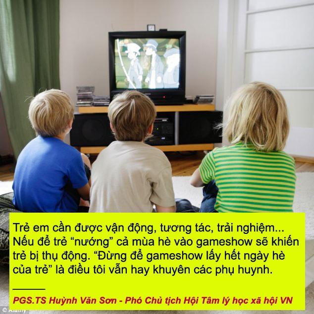 Xem thêm: Đừng để gameshow truyền hình lấy hết ngày hè của con trẻ!