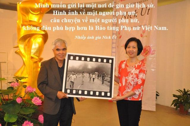 """Xem thêm: Nhiếp ảnh gia Nick Út tặng bức ảnh """"Em bé Napalm"""" cho Bảo tàng Việt Nam"""