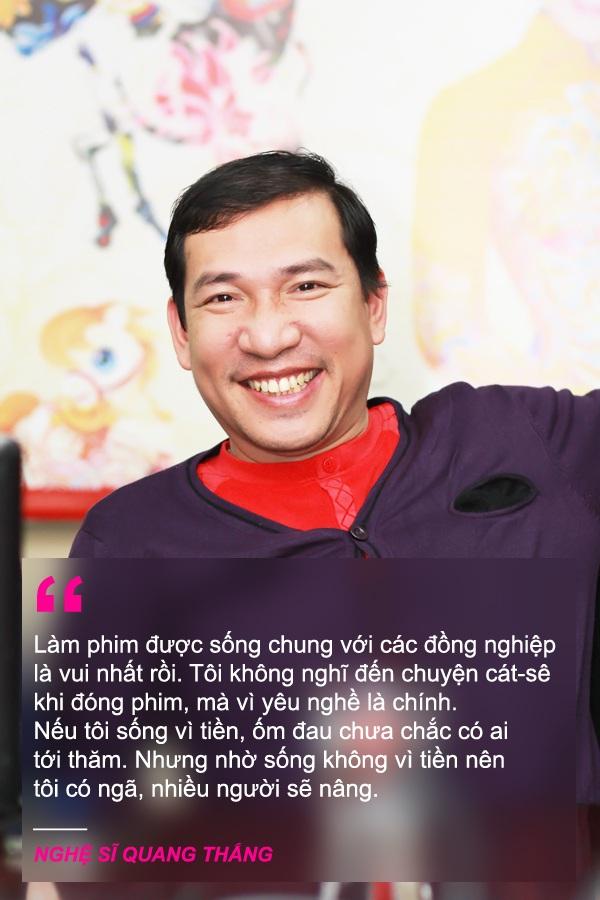 """Xem thêm: Nghệ sỹ Quang Thắng: """"Nếu sống vì tiền, tôi ốm chắc không ai thăm"""""""