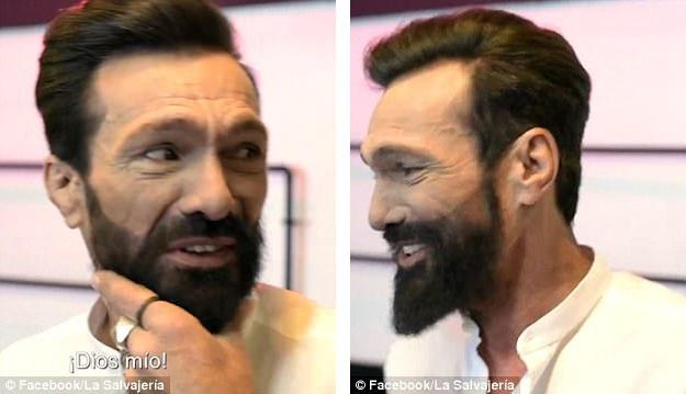 Sau khi được cắt tỉa và nhuộm lại râu tóc, ông Jose đã hoàn toàn thay đổi.