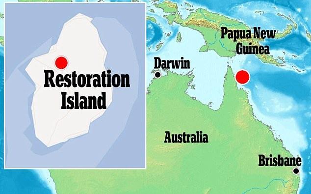 Vị trí hòn đảo Hồi phục nơi ông David Glasheen đang sinh sống.