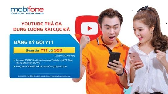 Hồ Việt Trung và Lilly Luta xuất hiện cùng nhau trên ấn phẩm quảng cáo cho gói Facebook data, Video data của MobiFone.