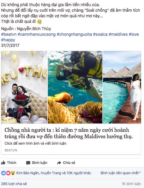 Dân mạng rần rần chia sẻ về chuyến du lịch kỉ niệm 7 năm ngày cưới của vợ chồng anh Hiếu chị Thuỳ