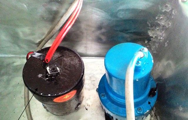 Hệ thống bơm nước tự động do em Thông sáng chế