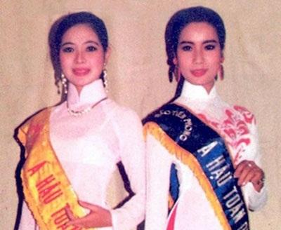 Á hậu Tô Hương Lan và Á hậu Trịnh Kim Chi.