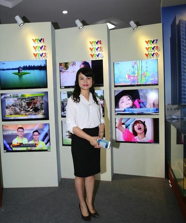 Nhà báo Nguyễn Thị Mỹ Hạnh - Tổng biên tập Tạp chí Truyền hình (Ảnh: Sơn Hải)