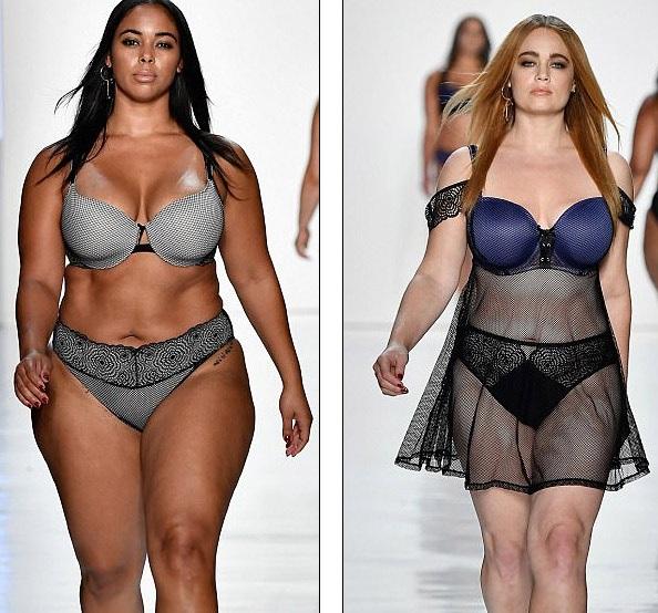 """Dàn người mẫu ngoại cỡ """"đổ bộ"""" tuần lễ thời trang New York - 12"""