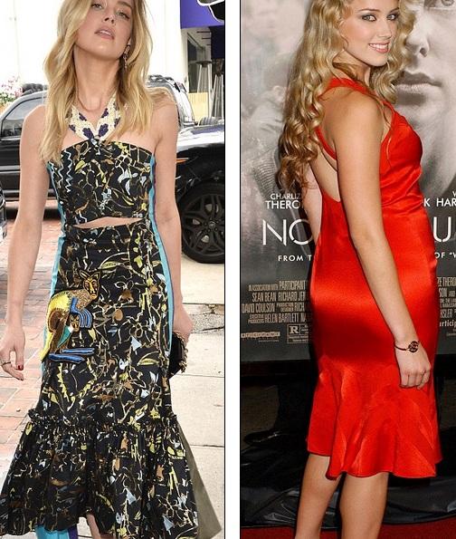 Amber Heard đã giảm hàng chục kg - nhất là khi so sánh với hình ảnh của cô cách đây chừng chục năm, lúc cô mới gia nhập làng giải trí