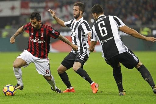 AC Milan không thể cưỡng lại được sức mạnh của Juventus