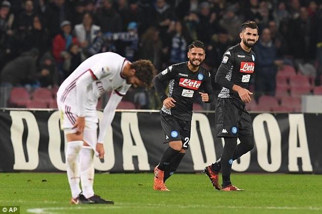 AC Milan gục ngã trước Napoli