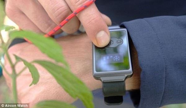 Các phím chức năng để điều chỉnh chế độ (nóng/lạnh) và nhiệt độ trên đồng hồ