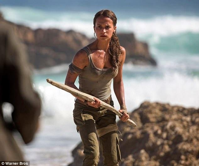 Alicia Vikander với tạo hình nàng Lara Croft trong bộ phim cùng tên sẽ ra mắt vào năm 2018