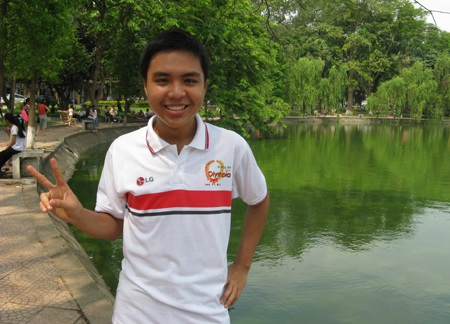 Phan Minh Đức - học sinh trường THPT Ams duy nhất giành được vòng nguyệt quế cho tới nay