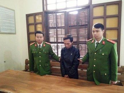 Đối tượng Hùng bị bắt giữ