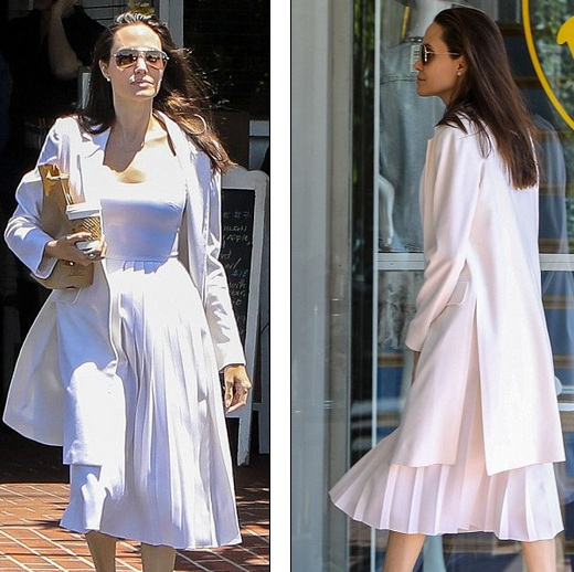 Angelina Jolie trẻ trung và thanh lịch trong bộ váy trắng