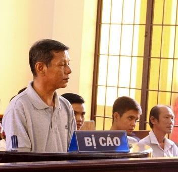 Bị cáo Nguyễn Phúc tại phiên tòa