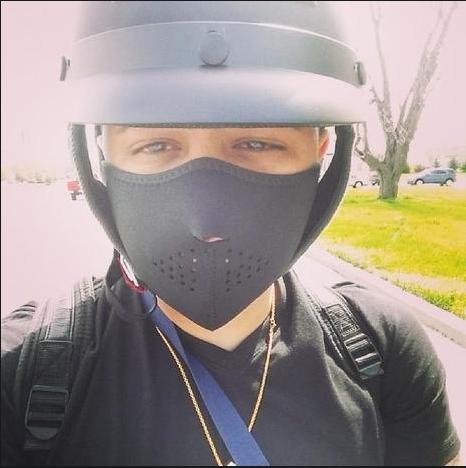 Bức ảnh này do Ramon Gonzalez chụp khi đang điều khiển xe mô tô và anh đã thiệt mạng không lâu sau đó trong một vụ tai nạn năm 2014. (Ảnh: Instagram)