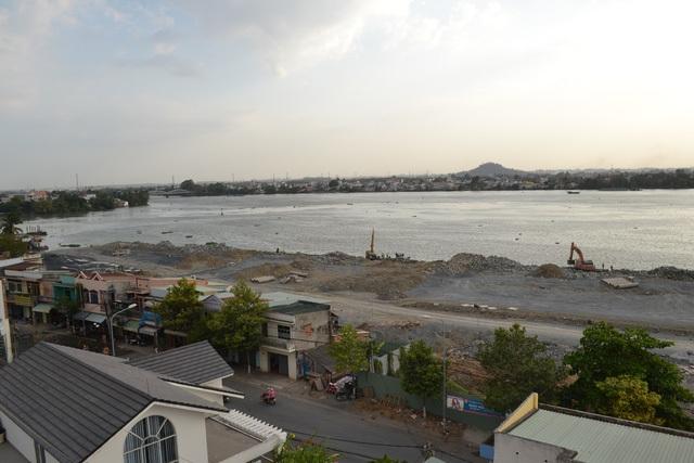 Toàn cảnh dự án cải tạo cảnh quan đô thị và phát triển đô thị ven sông Đồng Nai (Ảnh: Trung Kiên).