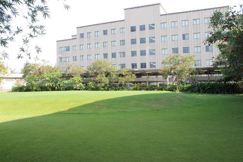 Ngoài ra còn có sân bóng, sân golf, nhà thi đấu phục vụ các hoạt động thể chất như tennis, bóng bàn và bãi cỏ trải dài xanh mướt.