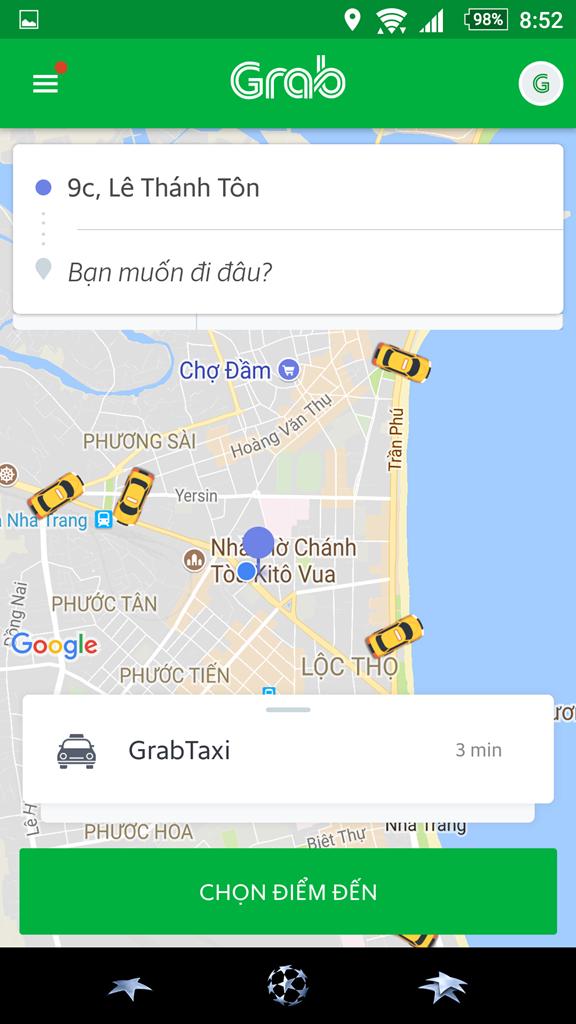 Hoạt động Grab ở TP Nha Trang được công khai mặc dù chưa được cơ quan chức năng cấp phép