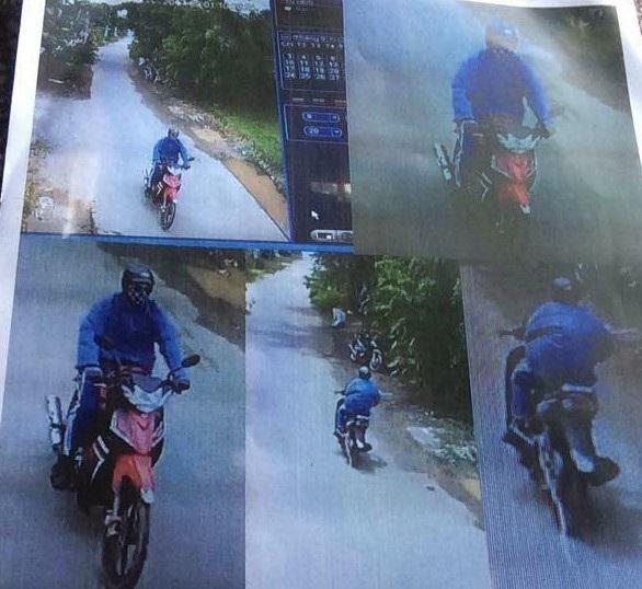 Nghi can cướp ngân hàng cùng chiếc xe máy mà người này sử dụng trong vụ cướp