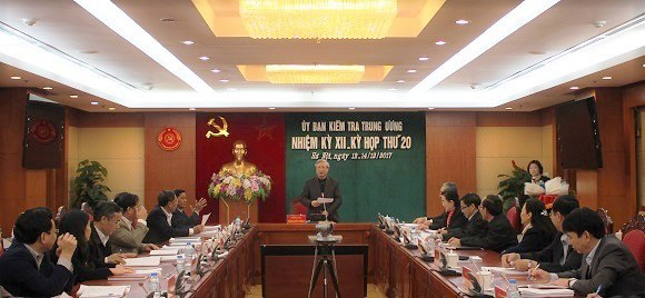 Kỳ họp thứ 20 Ủy ban Kiểm tra Trung ương