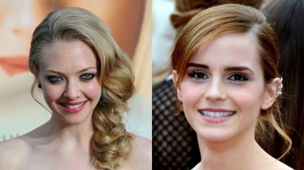 Những bức ảnh riêng tư được cho là của Amanda Seyfried (trái) và Emma Watson (phải) bị hacker lấy cắp và đăng tải lên Internet