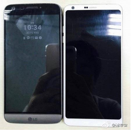 Hình ảnh thực tế LG G6 (phải) đặt cạnh phiên bản G5