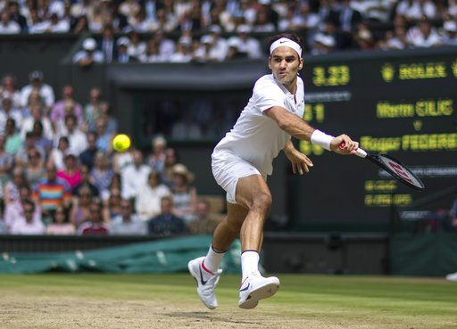 Federer thi đấu trong trận chung kết với Cilic