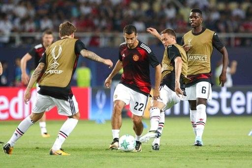 Các cầu thủ tham dự trận Siêu cúp châu Âu vào giữa tuần qua