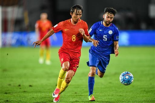 Philippines thảm bại 1-8 trước Trung Quốc