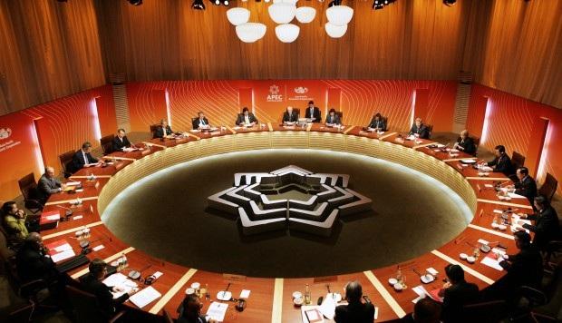 Một phiên họp của đại diện 21 nền kinh tế thành viên APEC (Ảnh: AFP)