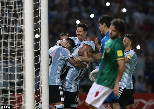 Argentina đã đánh bại Bolivia 2-0 ở lượt đi vòng loại World Cup 2018 năm nay