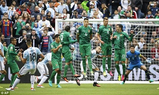 Tại Copa America 2016, Argentina đã hạ Bolivia 3-0 ở vòng bảng