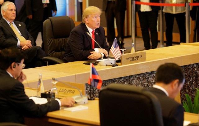 Tổng thống Donald Trump phát biểu khai mạc Hội nghị cấp cao kỷ niệm 40 năm quan hệ ASEAN-Mỹ.