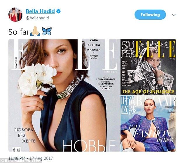 Bella Hadid đã nhiều lần xuất hiện trên các tạp chí Vogue
