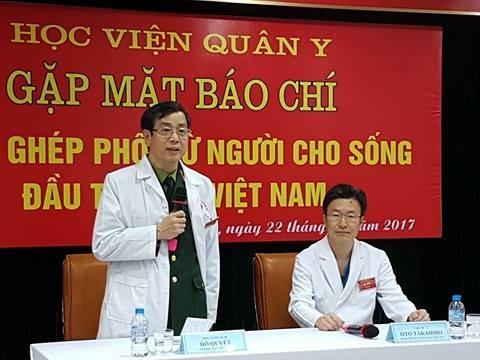 Thiếu tướng, GS.TS Đỗ Quyết – Giám đốc Học viện Quân y thông tin tại buổi gặp báo chí.