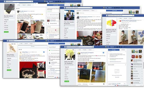 Việc chào bán hàng hóa từ các tài khoản cá nhân trên các mạng xã hội ngày càng gia tăng Ảnh: Chánh trung