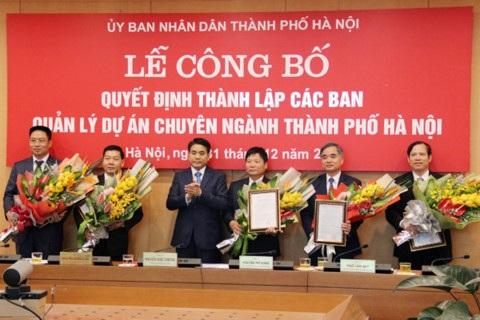 5 Ban Quản lý dự án chuyên ngành của TP Hà Nội được thành lập vào cuối năm 2016