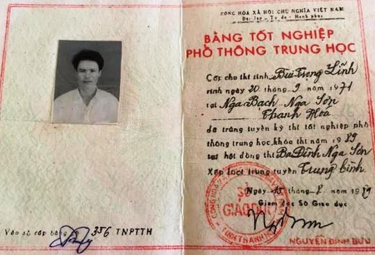 Bằng tốt nghiệp THPT của ông Bùi Trọng Lĩnh được cho là không hợp pháp