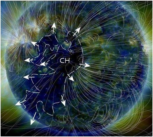 Bức ảnh này của tàu quan sát mặt trời Solar Dynamics Observatory của NASA cho thấy một lỗ nhật hoa khổng lồ đã được phát hiện từ đầu năm nay.