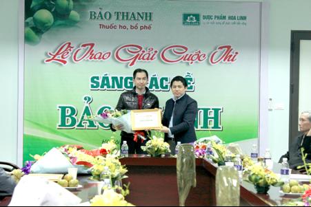 (Anh Nguyễn Mạnh Hùng – Đạt giải ba Sáng tác thơ về Bảo Thanh)