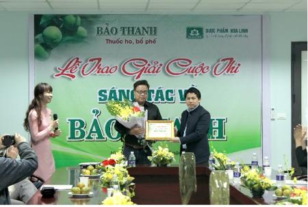 (Anh Trịnh Trọng Duy – Giải nhất cuộc thi Trắc nghiệm kiến thức về Bảo Thanh)