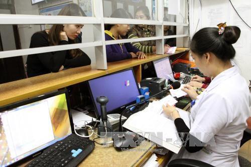 Bệnh viện đa khoa huyện Việt Yên quản lý 100.000 thẻ BHYT, số lượt khám sau thông tuyến tăng 15%, công suất sử dụng giường bệnh tăng. Ảnh: Dương Ngọc/TTXVN