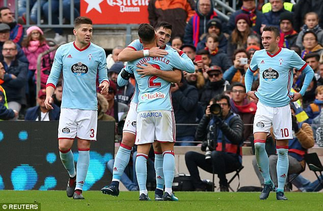 Celta Vigo xuất sắc kiếm được trận hòa 2-2 tại Nou Camp