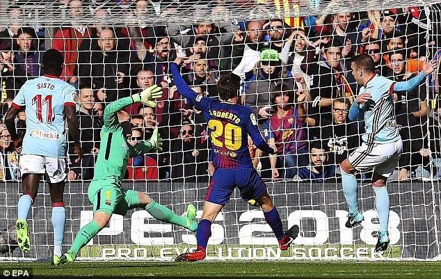 Celta Vigo bất ngờ là đội có được bàn thắng mở tỷ số