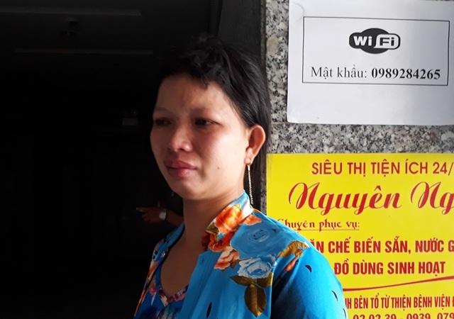 Chợ Tuyền vợ anh Tuấn khóc nghẹn khi nhắc đến tai nạn đoau lòng