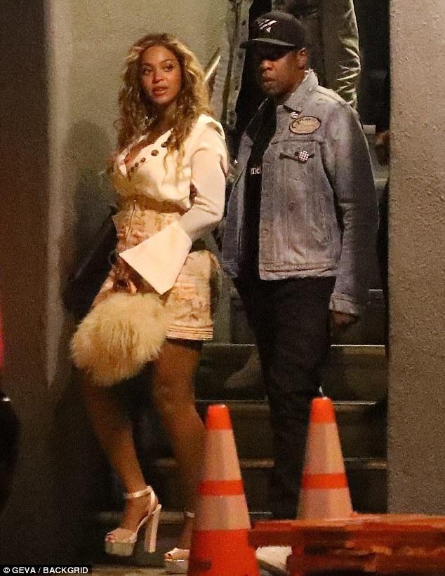 Beyonce và chồng Jay Z đi dự tiệc tại Mỹ ngày 14/7 vừa qua